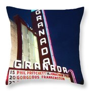 Granada Theater Throw Pillow