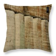 Granary Silos With Window Throw Pillow