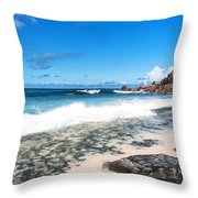 Grand Anse Beach Throw Pillow