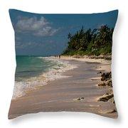 Grand Bahamas Beach Throw Pillow