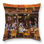 Grand Bar Throw Pillow by Guido Borelli