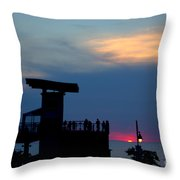 Grand Bend Silhouettes Throw Pillow