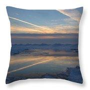 Grand Bend Winter Reflections 2 Throw Pillow