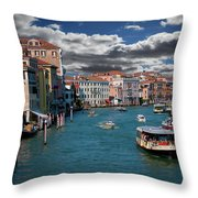 Grand Canal Daylight Throw Pillow