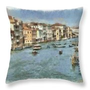 Grand Canal In Venice Throw Pillow