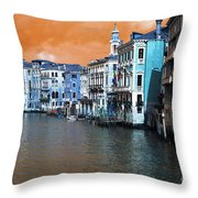 Grand Canal Pop Art Throw Pillow