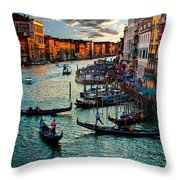 Grand Canal Sunset Throw Pillow