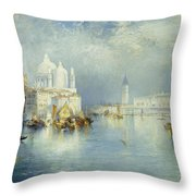Grand Canal Venice Throw Pillow by Thomas Moran