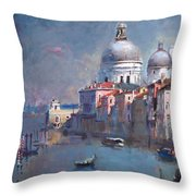 Grand Canal Venice Throw Pillow