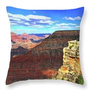 Grand Canyon # 22 - Mather Point Overlook Throw Pillow
