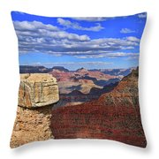 Grand Canyon # 29 - Mather Point Overlook Throw Pillow