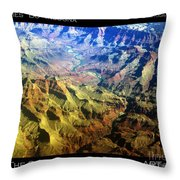 Grand Canyon Aerial View Throw Pillow