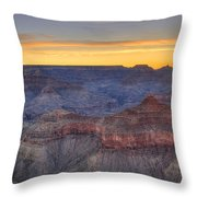 Shimmering Warmth In Panoramic Throw Pillow