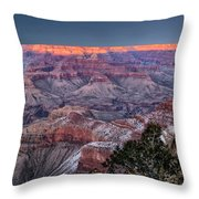 Grand Canyon Blue Hour Throw Pillow