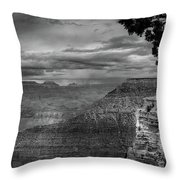 Grand Canyon Bw Throw Pillow