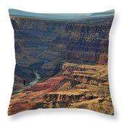 Grand Canyon Colorado River II Throw Pillow