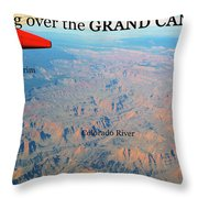 Grand Canyon Flight Throw Pillow