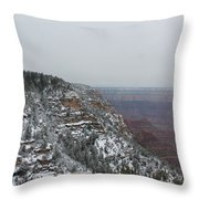 Grand Canyon In Snow Throw Pillow