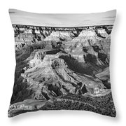 Layers Of Time In The Grand Canyon Throw Pillow