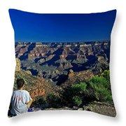 Grand Canyon Meditation Throw Pillow