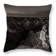Grand Canyon Monochrome Throw Pillow by Scott McGuire