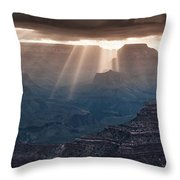 Grand Canyon Morning Light Show Pano Throw Pillow