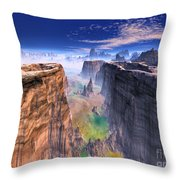 Grand Canyon Mountain . Throw Pillow