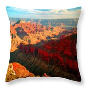 Grand Canyon National Park Sunset On North Rim Throw Pillow