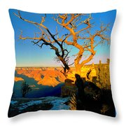 Grand Canyon National Park Winter Sunrise On South Rim Throw Pillow