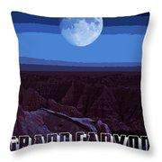 Grand Canyon Nights Throw Pillow