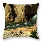 Grand Canyon Of The Yellowstone 3 Throw Pillow