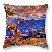 Grand Canyon Pine Throw Pillow