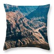 Grand Canyon River Throw Pillow