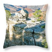 Grand Canyon Rock Formations, Arizona Throw Pillow