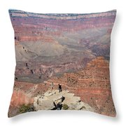 Grand Canyon Selfie Mania Throw Pillow