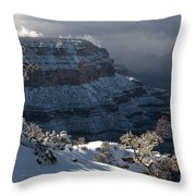 Grand Canyon Storm Throw Pillow