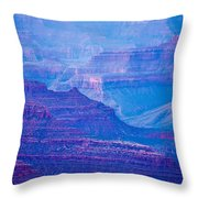 Grand Canyon Sunny Day With Blue Sky Throw Pillow