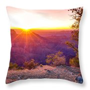 Grand Canyon Sunrise Throw Pillow by Scott McGuire