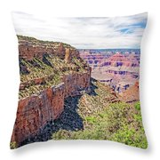 Grand Canyon, View From South Rim Throw Pillow