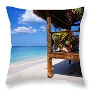 Grand Cayman Relaxing Throw Pillow