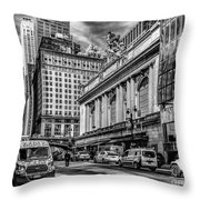Grand Central At 42nd St - Mono Throw Pillow