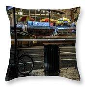 Grand Central Terminalfood Carts Throw Pillow