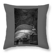 Grand Central Terminal - Arched Corridor Throw Pillow
