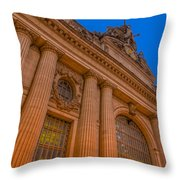 Grand Central Terminal - Chrysler Building Throw Pillow