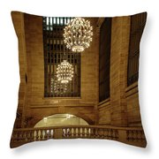Grand Central Terminal Light Reflections Throw Pillow