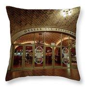 Grand Central Terminal Oyster Bar Throw Pillow