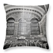 Grand Central Terminal Station Throw Pillow