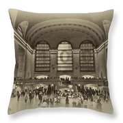 Grand Central Terminal Vintage Throw Pillow