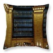 Grand Central Terminal Window Details Throw Pillow