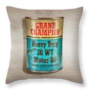 Grand Champion Motor Oil Throw Pillow